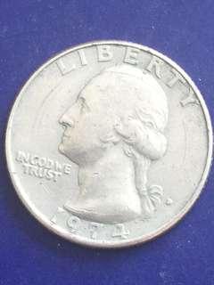 USA quarter dollar 1974, VF