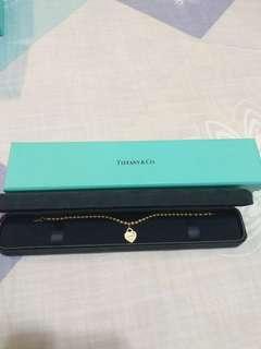 Tiffany & Co. 18K Yellow Gold Mini Heart Beads Bracelet