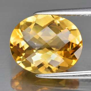 Top! VVS 3.52ct Yellow Citrine 12x10mm Oval Natural Golden, Brazil