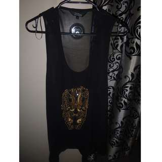 Black Silk formal singlet
