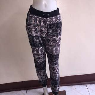 EYE CANDY aztec print jogging/zumba/dance pants large