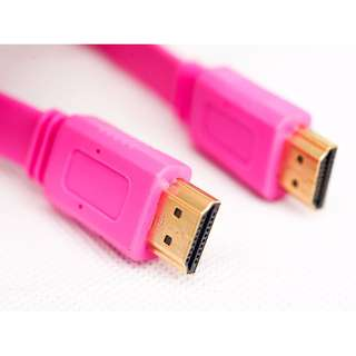 HDMI Mini to HDMI Female Flat Cable - 30cm (Pink)