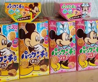 現貨 日本森永迪士尼系列巧克力球餅乾 草莓球餅乾
