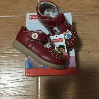 Fisher-price red shoes size 3-6m (brand new)