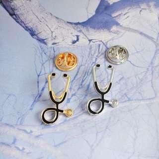 Stethoscope Collar Pin