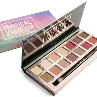 Ready focallure eyeshadow palette tropical vacation 14 warna