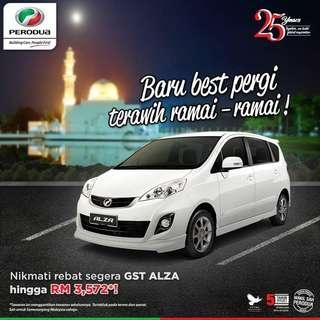 Perodua Alza  ❌ NO GST