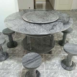 Marble table set