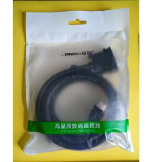 UGreen 绿联 DV101 DVI-D (24+1 pin) Male to DVI-D Dual Link (24+1 pin) Male Cable 1.5M Black