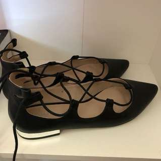 Forever New Lace Up Ballet Flats
