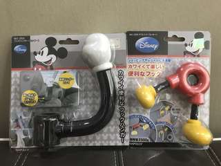 Mickey Mouse Car Hooks - 2 designs
