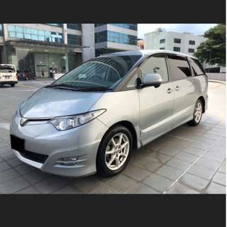 Airport transfer/ point A to point B services with Toyota Estima (7-Seater)