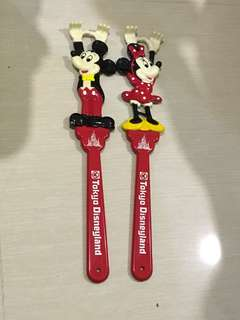 日本迪士尼絕版 Disney mickey mouse minnie mouse 不求人 中古