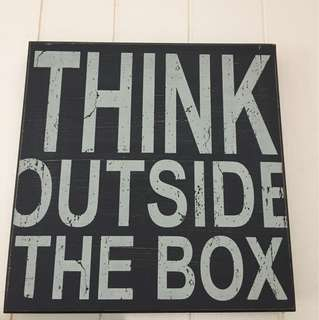 Wall decor- outside the box