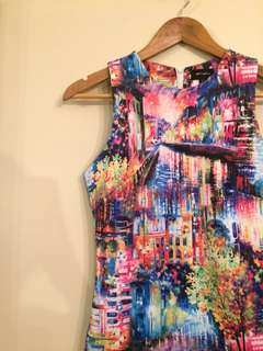 Painted bodycon dress