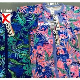 Bonds Zip Wondersuit Short Sleeves Airlie Crocs, Airlie Birds Size 0 1 3