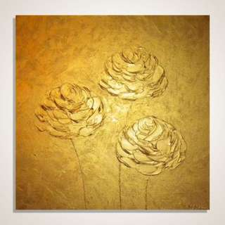 Gold Flower Paintings