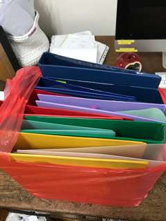A4 size folders $1 each assorted colours