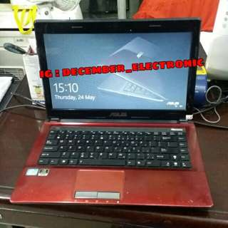 Laptop Asus A43S Core i3 ram 2GB hdd 500GB SSD 128GB