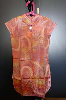 Baju Batik Anak Girl - Cheongsam Silk Dress