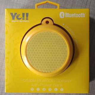 YE!! Bubble Portable Bluetooth Speaker with Power Bank