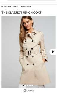 Portman trench coat
