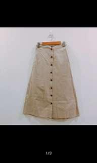 可換物 全新排扣裙