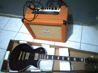 Jual Gitar elektrik esp & ampli orange crush 35RT