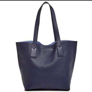 <全新可上膊> Marc Jacobs真皮深藍色袋 | <Brand New> Marc Jacobs Totebag