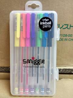 Smiggle 7 Scented Inkball Pens