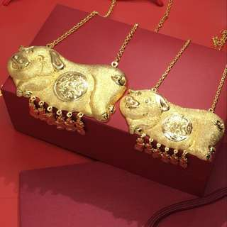 Gold Color Bracelet Pig  necklace #3