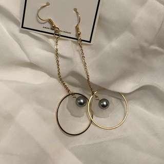 🚚 超仙💫珍珠貝殼垂墜式耳環 全新耳環 #一百元好物