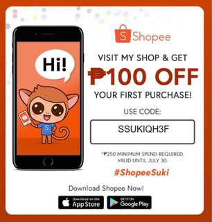 100php OFF AT SHOPEE