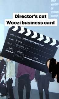 Seventeen director's cut Woozi business card