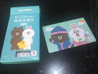 Line Friends T money Card