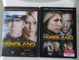 DVDs:  HOMELAND Seasons 1 & 2