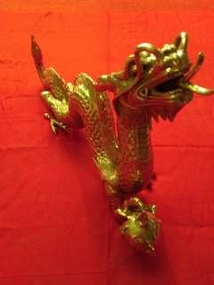 Patung Naga Tembaga Asli