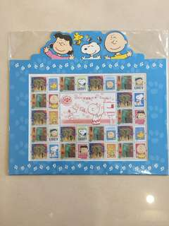 Snoopy 香港2005年郵票小版套摺