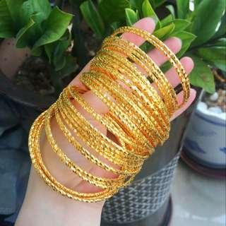 Gold Color Bracelet 3 pcs #7