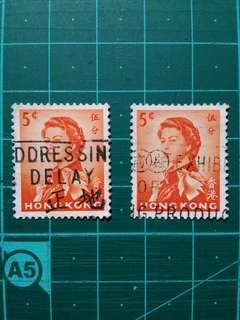 [均一價$10]1962 伊莉莎白二世軍裝通用票 宣傳印舊票兩枚