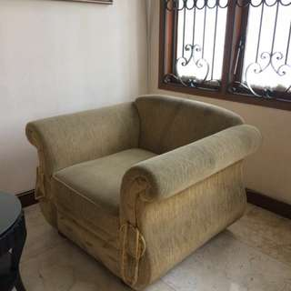 Pre loved Yellow Sofa