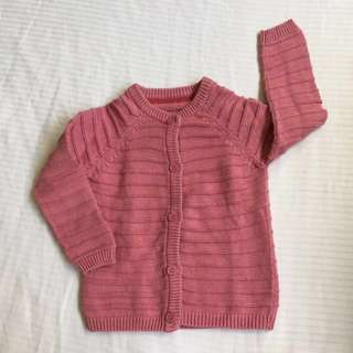 Mothercare Pink Knitted Jacket For Your Princess