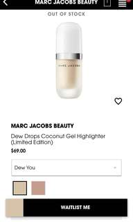 Marc Jacobs Beauty Dew Drops Cocount Gel Highlighter