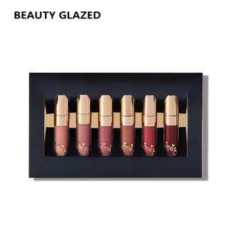 🦋BEAUTY GLAZED 6PCS/SET Makeup Matte liquid Lipstick Lipgloss🦋