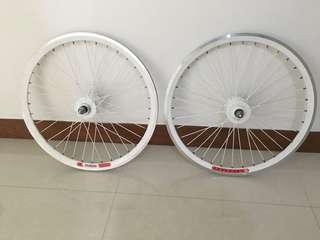 Mini velo single speed wheelset