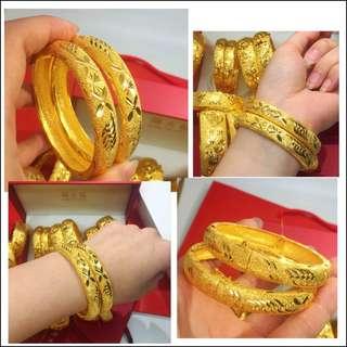 Gold / Golden Color Bracelet 1 pc #A2