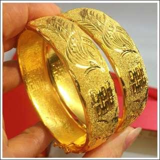 Gold / Golden Color Bracelet 1 pc #A4