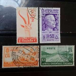 [lapyip1230] 意屬東非 1936年 舊票全份 VFU
