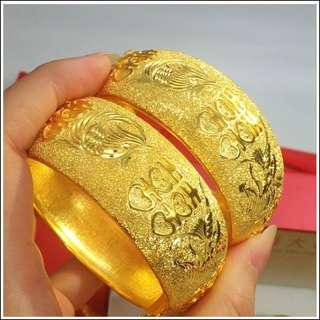 Gold / Golden Color Bracelet 1 pc #A8