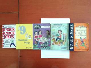 One children's book. the rest are mixed and used books.
